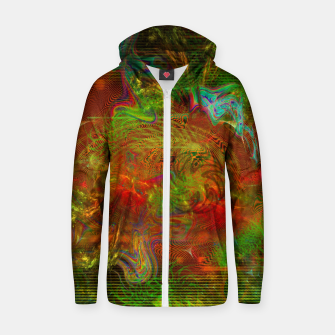 Miniature de image de Swirling Stew (abstract, psychedelic, visionary) Cotton zip up hoodie, Live Heroes