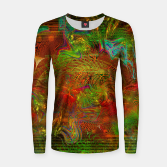 Miniature de image de Swirling Stew (abstract, psychedelic, visionary) Woman cotton sweater, Live Heroes