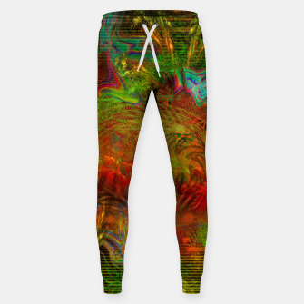 Miniature de image de Swirling Stew (abstract, psychedelic, visionary) Cotton sweatpants, Live Heroes