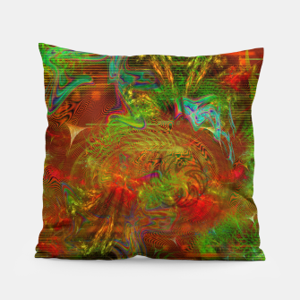 Miniature de image de Swirling Stew (abstract, psychedelic, visionary) Pillow, Live Heroes