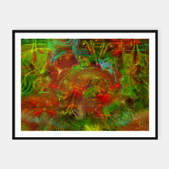 Miniature de image de Swirling Stew (abstract, psychedelic, visionary) Framed poster, Live Heroes