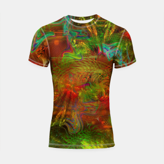 Miniature de image de Swirling Stew (abstract, psychedelic, visionary) Shortsleeve rashguard, Live Heroes