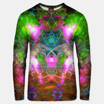 Thumbnail image of Angels From Twin Worlds (psychedelic, galaxy, visionary, abstract) Cotton sweater, Live Heroes