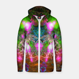 Thumbnail image of Angels From Twin Worlds (psychedelic, galaxy, visionary, abstract) Cotton zip up hoodie, Live Heroes