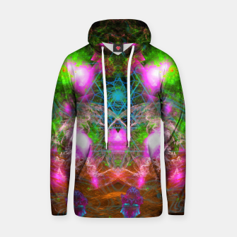 Thumbnail image of Angels From Twin Worlds (psychedelic, galaxy, visionary, abstract) Cotton hoodie, Live Heroes
