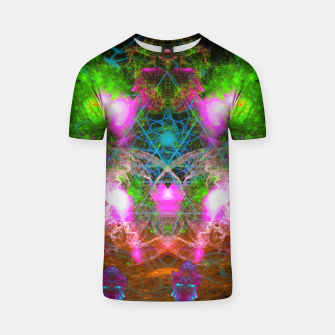 Thumbnail image of Angels From Twin Worlds (psychedelic, galaxy, visionary, abstract) T-shirt, Live Heroes