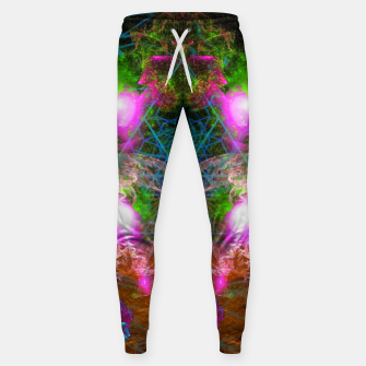 Thumbnail image of Angels From Twin Worlds (psychedelic, galaxy, visionary, abstract) Cotton sweatpants, Live Heroes