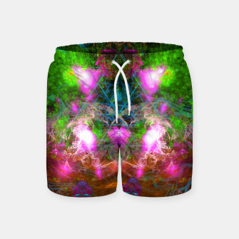 Thumbnail image of Angels From Twin Worlds (psychedelic, galaxy, visionary, abstract) Swim Shorts, Live Heroes