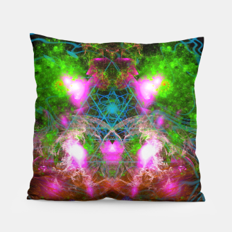 Thumbnail image of Angels From Twin Worlds (psychedelic, galaxy, visionary, abstract) Pillow, Live Heroes