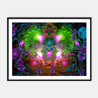 Thumbnail image of Angels From Twin Worlds (psychedelic, galaxy, visionary, abstract) Framed poster, Live Heroes