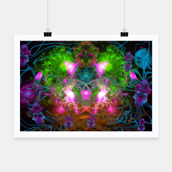 Thumbnail image of Angels From Twin Worlds (psychedelic, galaxy, visionary, abstract) Poster, Live Heroes