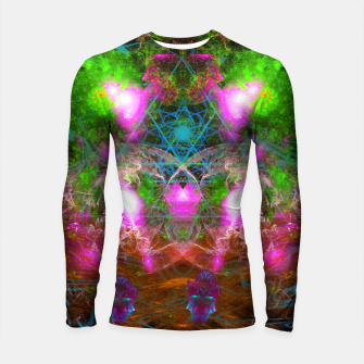 Thumbnail image of Angels From Twin Worlds (psychedelic, galaxy, visionary, abstract) Longsleeve rashguard , Live Heroes
