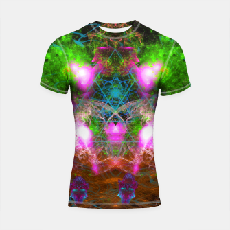 Thumbnail image of Angels From Twin Worlds (psychedelic, galaxy, visionary, abstract) Shortsleeve rashguard, Live Heroes