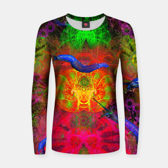 Thumbnail image of Cthulhu and His Minions (scifi, sci-fi, slugs) Woman cotton sweater, Live Heroes