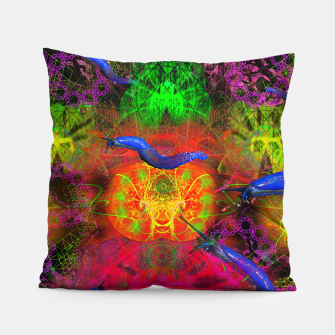 Thumbnail image of Cthulhu and His Minions (scifi, sci-fi, slugs) Pillow, Live Heroes