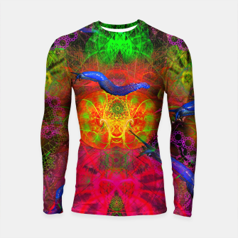 Thumbnail image of Cthulhu and His Minions (scifi, sci-fi, slugs) Longsleeve rashguard , Live Heroes