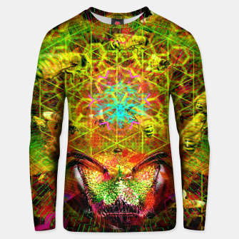 Miniatur Honeycomb Hideout (psychedelic, visionary, abstract, bees) Cotton sweater, Live Heroes