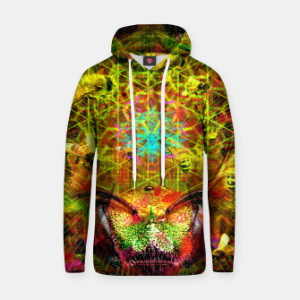 Miniatur Honeycomb Hideout (psychedelic, visionary, abstract, bees) Cotton hoodie, Live Heroes