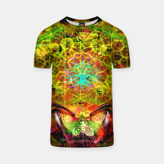 Miniatur Honeycomb Hideout (psychedelic, visionary, abstract, bees) T-shirt, Live Heroes