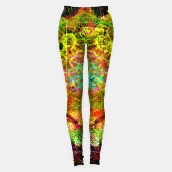 Miniatur Honeycomb Hideout (psychedelic, visionary, abstract, bees) Leggings, Live Heroes