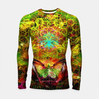Miniatur Honeycomb Hideout (psychedelic, visionary, abstract, bees) Longsleeve rashguard , Live Heroes