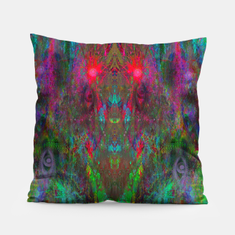 Miniatur Oracular Ether (abstract, eyes, eyeballs) Pillow, Live Heroes