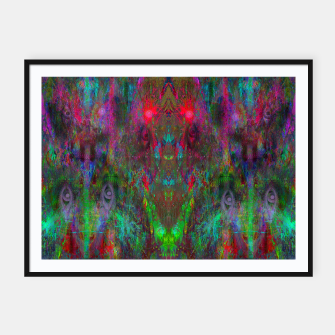 Miniatur Oracular Ether (abstract, eyes, eyeballs) Framed poster, Live Heroes