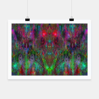 Miniatur Oracular Ether (abstract, eyes, eyeballs) Poster, Live Heroes