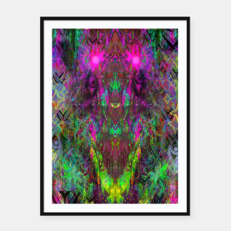 Thumbnail image of Oracular Ether (Focus) (abstract, alien, eyes) Framed poster, Live Heroes