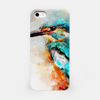 Thumbnail image of Watercolor kingfisher iPhone Case, Live Heroes