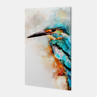 Thumbnail image of Watercolor kingfisher Canvas, Live Heroes