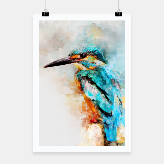 Thumbnail image of Watercolor kingfisher Poster, Live Heroes