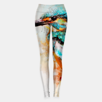 Thumbnail image of Watercolor kingfisher Leggings, Live Heroes