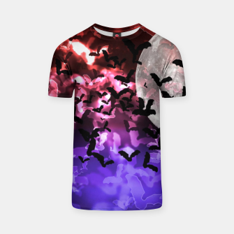 Thumbnail image of Bokeh Light Bats and Moon T-shirt, Live Heroes