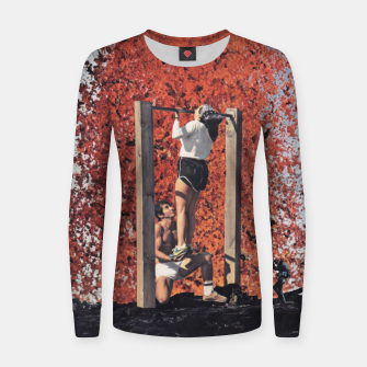 Thumbnail image of Burning Workout Woman cotton sweater, Live Heroes