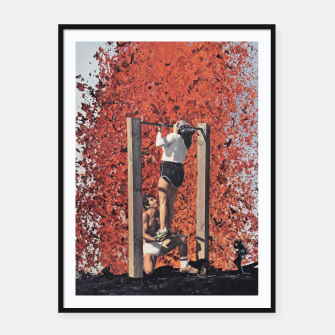 Thumbnail image of Burning Workout Framed poster, Live Heroes