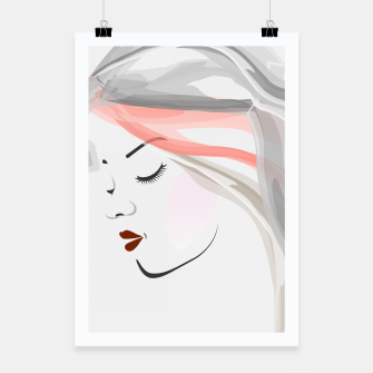 Miniaturka Beauty and elegance- Watercolor face of a lady Poster, Live Heroes