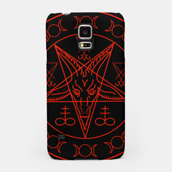 Thumbnail image of Wiccan symbols- Cross of Sulfur, Triple Goddess, Sigil of Baphomet and Lucifer Samsung Case, Live Heroes