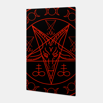 Thumbnail image of Wiccan symbols- Cross of Sulfur, Triple Goddess, Sigil of Baphomet and Lucifer Canvas, Live Heroes