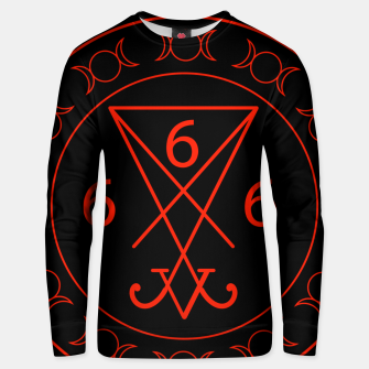 666- the number of the beast with the sigil of Lucifer symbol Cotton sweater obraz miniatury