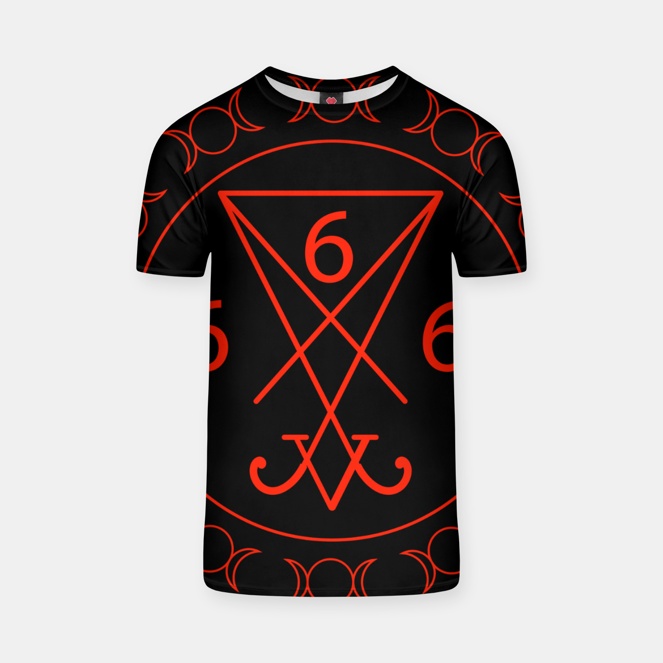 Zdjęcie 666- the number of the beast with the sigil of Lucifer symbol T-shirt - Live Heroes