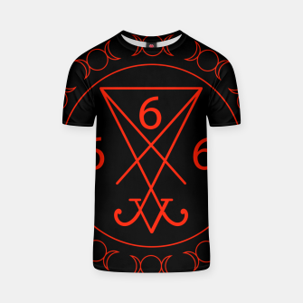 666- the number of the beast with the sigil of Lucifer symbol T-shirt obraz miniatury
