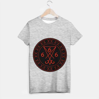 666- the number of the beast with the sigil of Lucifer symbol T-shirt regular obraz miniatury
