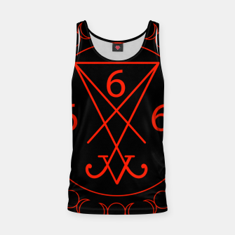 666- the number of the beast with the sigil of Lucifer symbol Tank Top obraz miniatury