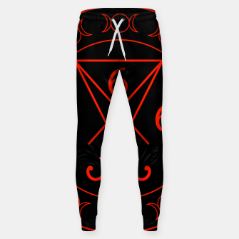 666- the number of the beast with the sigil of Lucifer symbol Cotton sweatpants obraz miniatury