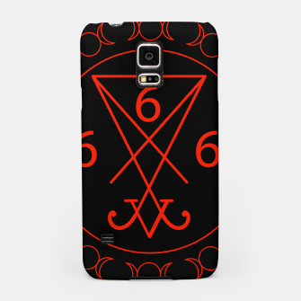 666- the number of the beast with the sigil of Lucifer symbol Samsung Case obraz miniatury