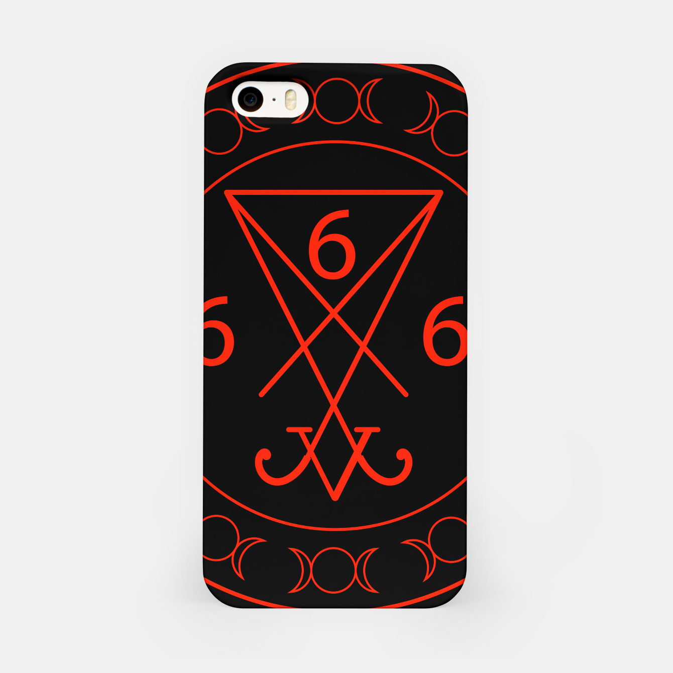 Zdjęcie 666- the number of the beast with the sigil of Lucifer symbol iPhone Case - Live Heroes