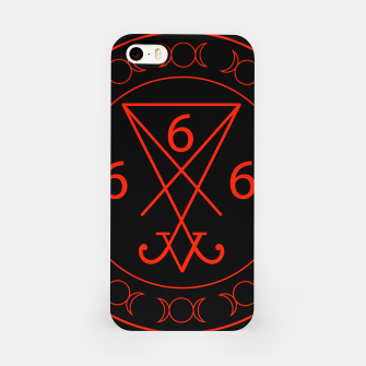 666- the number of the beast with the sigil of Lucifer symbol iPhone Case obraz miniatury