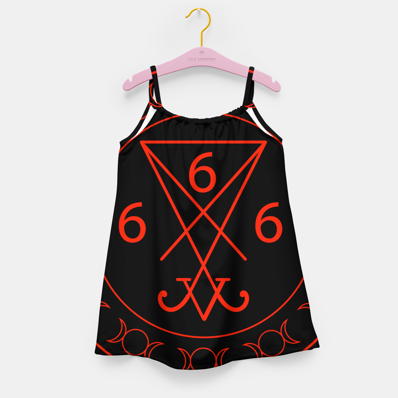 Zdjęcie 666- the number of the beast with the sigil of Lucifer symbol Girl's dress - Live Heroes