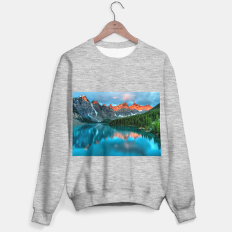 Thumbnail image of Alberta Canada Lake Louise Summer Adventure Sweater regular, Live Heroes